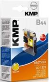KMP B44 Tintenpatrone - ersetzt Brother LC123Y - 600 Seiten Yellow