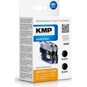 KMP B48D ersetzt Brother Druckerpatrone LC223BK Doppelpack Schwarz 2 x 550 Seiten