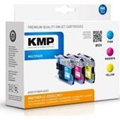 KMP B52V ersetzt Brother Multipack LC225 XL Cyan, Magenta, Yellow je 1.200 Seiten