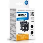 KMP B55D ersetzt Brother Druckerpatrone LC227BK XL Doppelpack Schwarz 1.200 Seiten