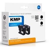KMP B56D ersetzt Brother Druckerpatrone LC229BK Doppelpack Schwarz 2x 2.400 Seiten
