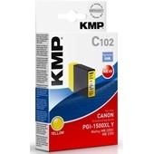 KMP C102 - ersetzt Canon Druckerpatrone PGI1500XLY - 1.020 Seiten Yellow