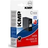 KMP C103 - ersetzt Canon Druckerpatrone PGI2500XLBK - 2.500 Seiten Schwarz