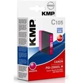 KMP C105 - ersetzt Canon Druckerpatrone PGI2500XLM - 1.755 Seiten Magenta