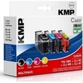 KMP C66V MultiPack Inkcatridge - ersetzt Canon PGI5BK und CLi8 - Black, Cyan, Magenta, Yellow