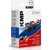 KMP C95V Multipack - ersetzt Canon PG540 und CL541 - je 200 Seiten