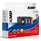 KMP C99V - ersetzt Canon Multipack PGI1500XL - 1.200 Seiten Schwarz, je 1.020 Seiten cyan, Magenta, Yellow