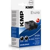 KMP E149D Druckerpatrone Doppelpack - ersetzt Epson T2621XL - 2x 500 Seiten Schwarz