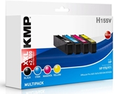 KMP H155V ersetzt Multipack HP 970 971 - Schwarz, Cyan, Magenta, Yellow