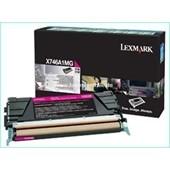 Lexmark X746 X748 - Toner X746A1MG 7.000 Seiten Magenta